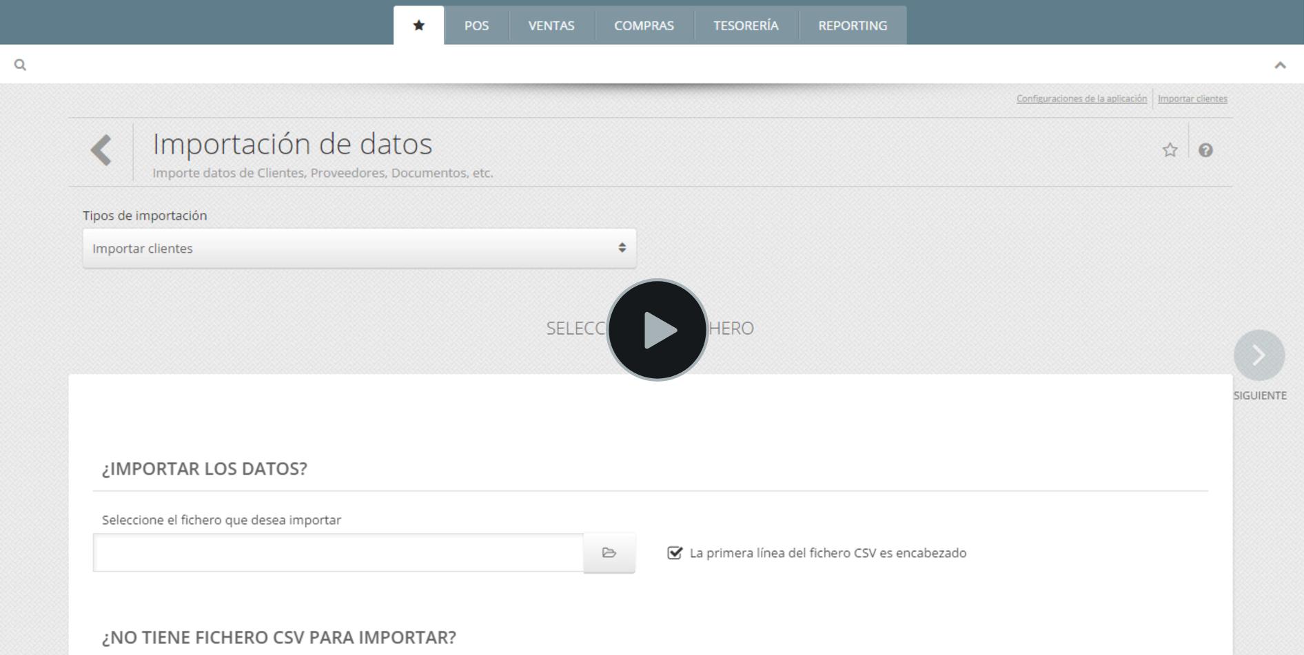Importação Dados Software de Gestão