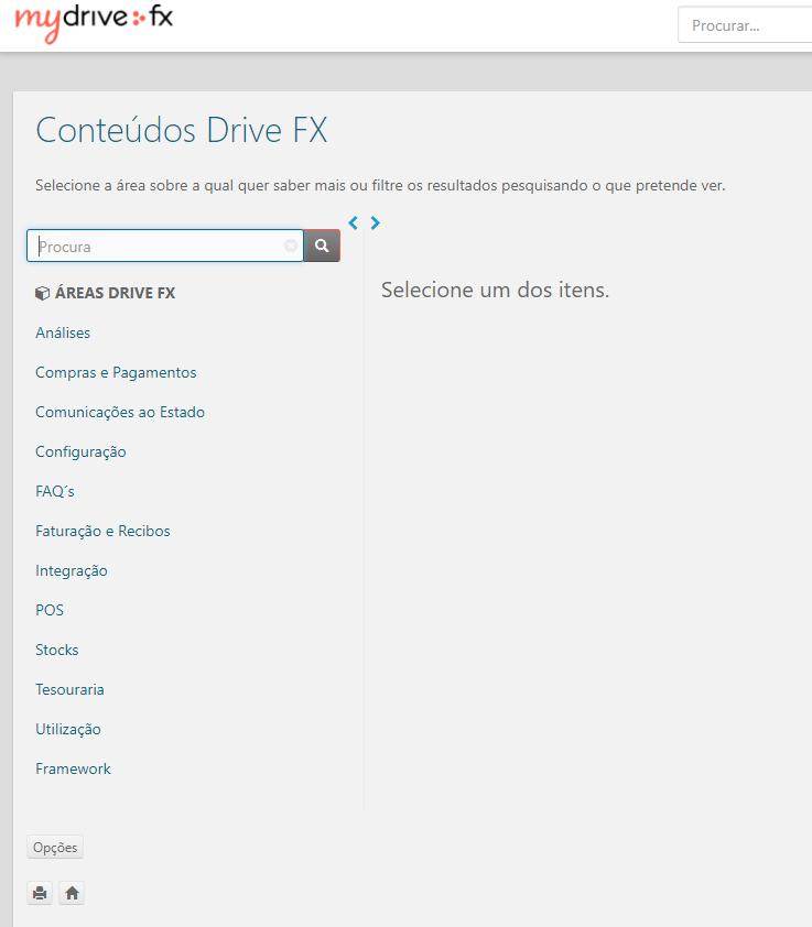 Conteúdos Drive FX
