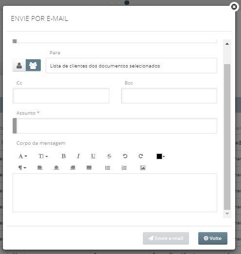envio de email avenças