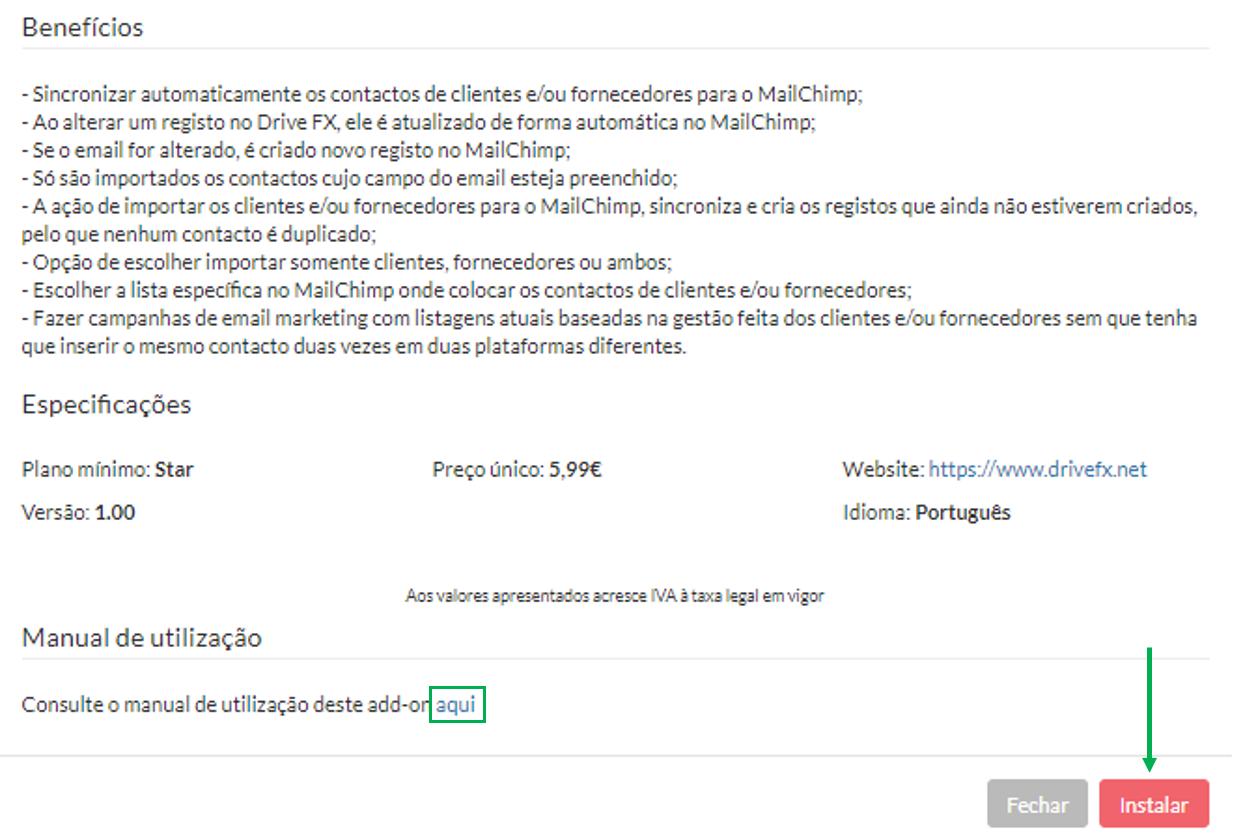 Instalar Add-on Mail