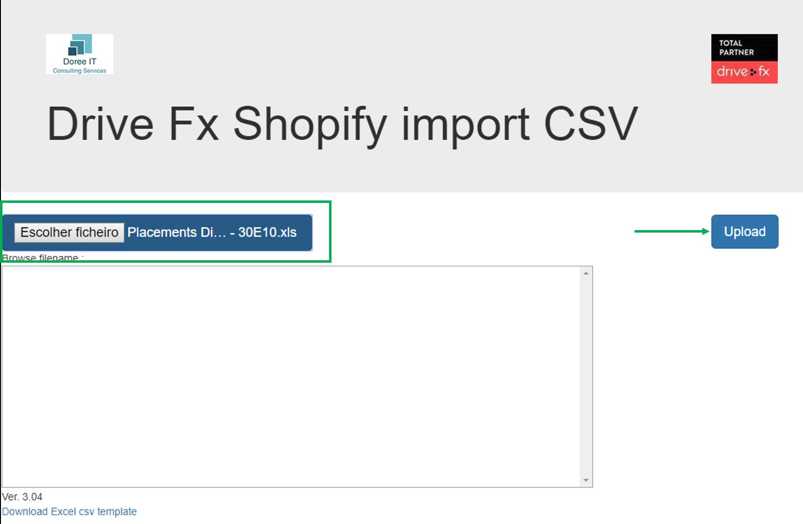 Plataforma import