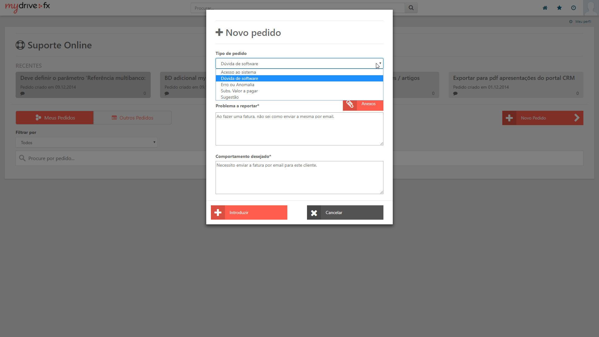 novo suporte online 2